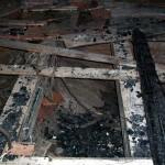 O čia matote vaizdą pro bažnyčios stogo skylę