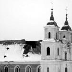 Taip praėjusį antradienį atrodė Tytuvėnų bažnyčios stogas