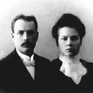 J. Garalevičius su žmona